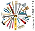 vector set of tools for repair and construction - stock vector