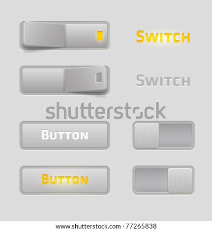Vector set of tumblers and toggles - stock vector