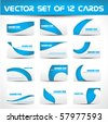 vector set of twelve business card - stock vector
