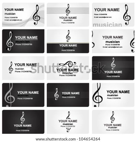 Vector set various professional business cards stock vector vector set of various professional business cards for musicians colourmoves