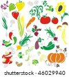 VECTOR Set of vegetables - stock photo