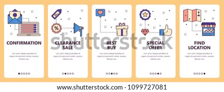 vector set vertical banners confirmation clearance stock vector