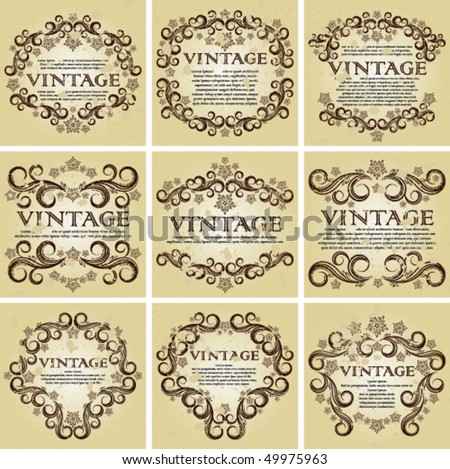Vector Set of vintage backgrounds