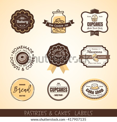 Cake logo stock images royalty free images vectors for Badge fait maison