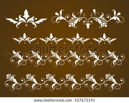 Vector set of vintage calligraphic ornaments - stock vector