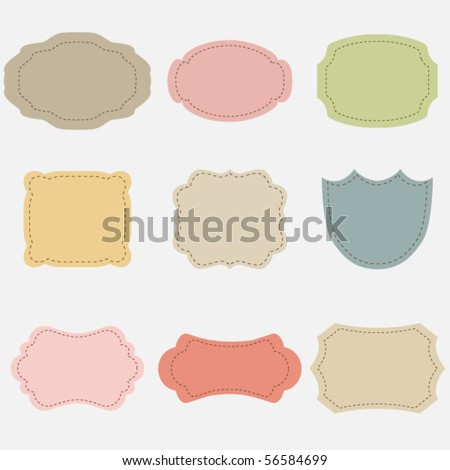 Vector set of vintage frames #2