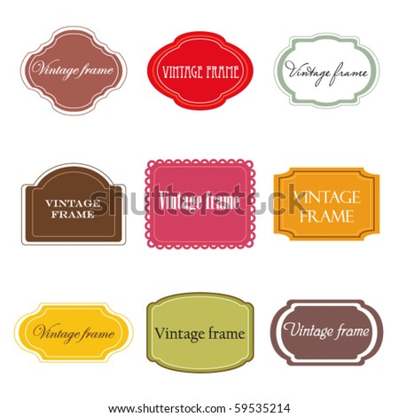 Vector set of vintage labels - stock vector