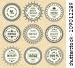 Vector set of vintage labels, discount labels set - stock vector