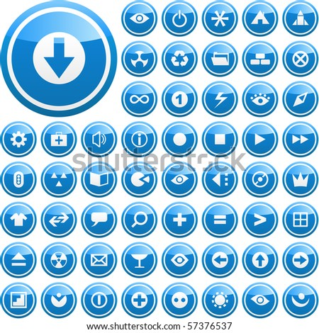 Vector set of web buttons. - stock vector