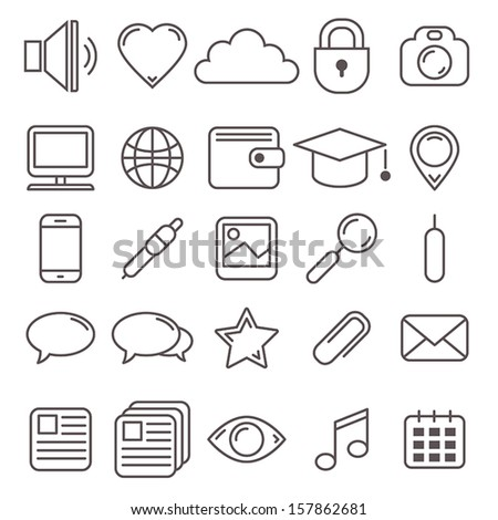 vector set of web icons and pictograms