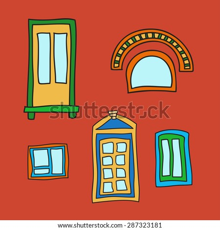 vector set of windows