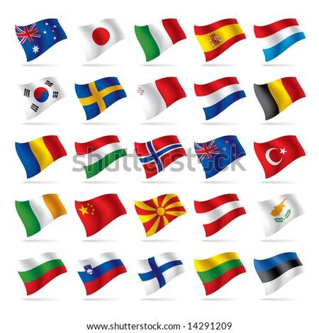 Vector set of world flags 2 - stock vector