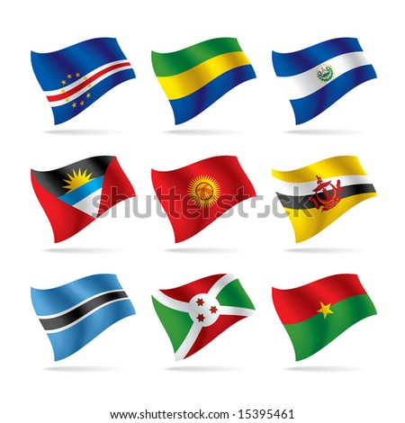 Vector set of world flags 8 - stock vector
