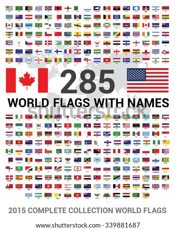Vector Set 285 World Flags Sovereign Stock Vector ...