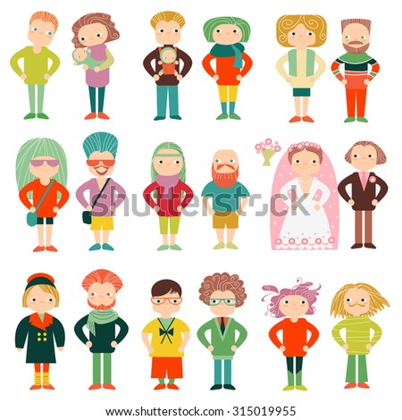 Vector set people