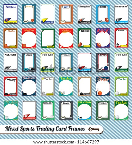 Vector Set Retro Mixed Sport Trading Stock Vector 114667297