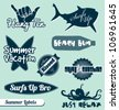 Vector Set: Summer Beach Labels - stock vector