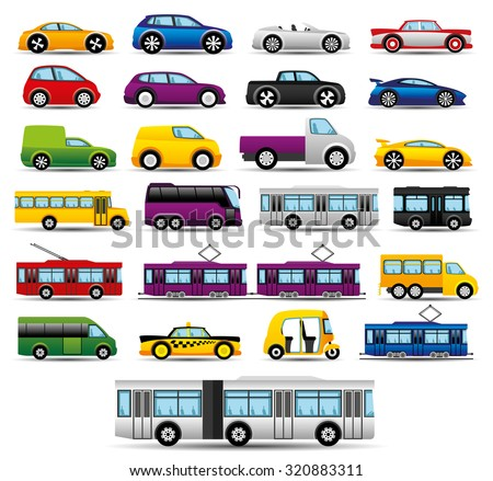 Vector set. Transportation icons. - stock vector