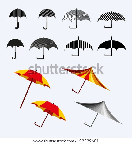 vector set umbrellas - stock vector