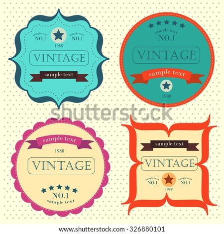 Vector set vintage labels. eps 10 - stock vector