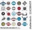 Vector Set: Vintage Sports and Recreation Labels and Icons #2 - stock vector