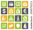 vector set with business and finance icons - stock photo