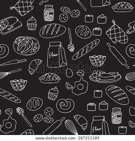 Vector set with food.