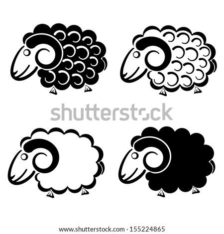 Vector sheep. - stock vector