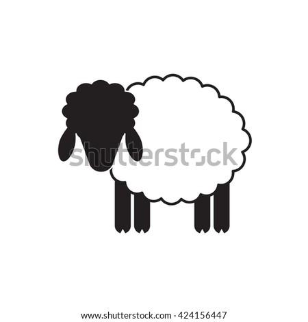 Vector Sheep Ram Icon Logo Template Stock Vector 424156447 ...
