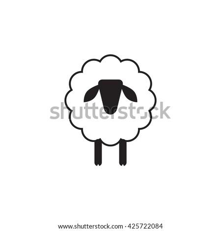 Vector Sheep Ram Icon Logo Template Stock Vector 425722084 ...
