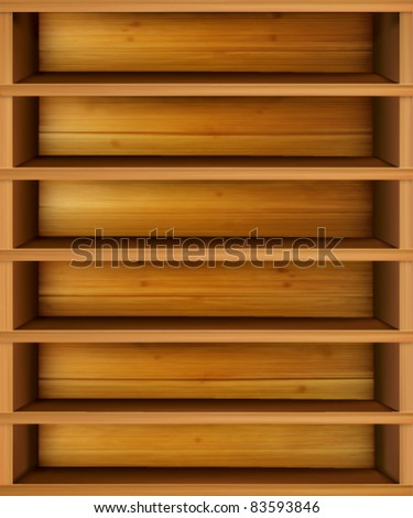 vector shelf illustration - stock vector