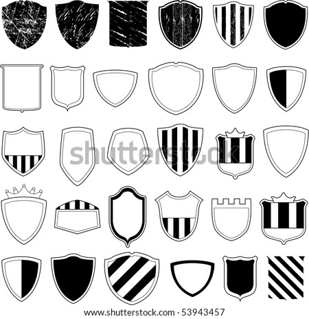 Vector shield design - stock vector
