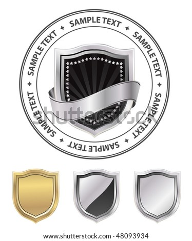 vector shield emblem - stock vector