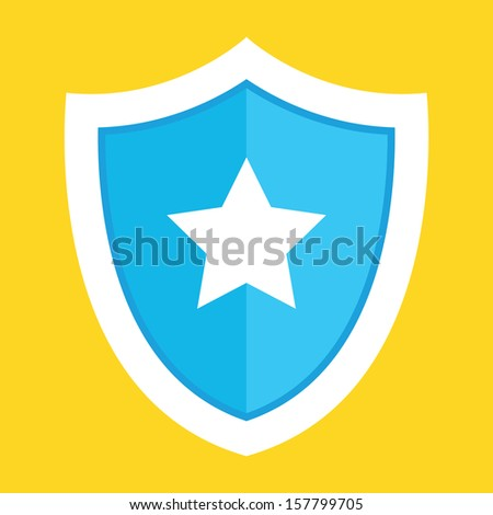 Vector Shield Icon - stock vector