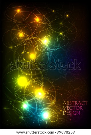 Vector shiny abstract background