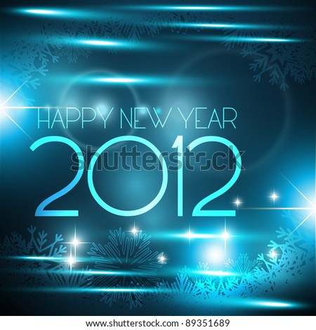 vector shiny glowing happy new year background