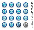 Vector shiny icons for web, presentations or computer applications. Three background variations included. JPG and TIFF versions of this image are also available in my portfolio. - stock photo