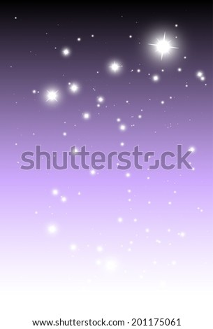 Vector shiny purple background vector template - Vector glitters and sparkles purple background illustration - stock vector