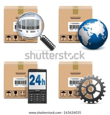 Vector Shipment Icons Set 15 - stock vector