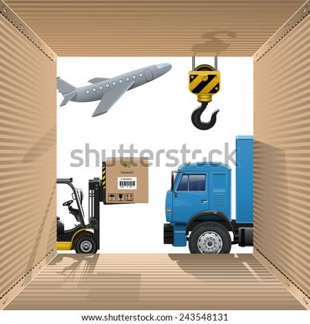 Vector Shipping Concept - stock vector