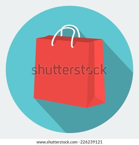 Vector shopping bag Icon  - stock vector