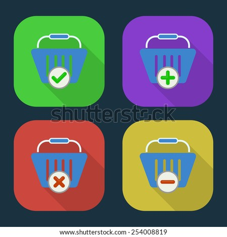Vector shopping basket icon. part 1 - stock vector