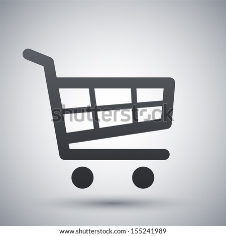 Vector shopping cart icon - stock vector