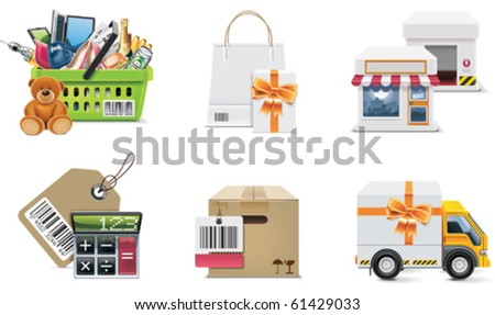 Vector shopping icon set and elements. Part 2