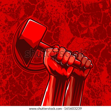 vector sickle&hammer - stock vector