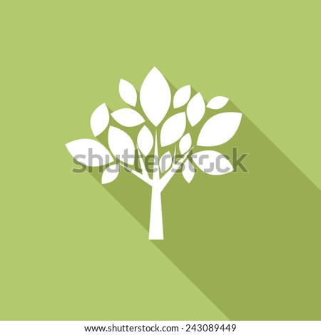 Vector sign abstract tree - stock vector