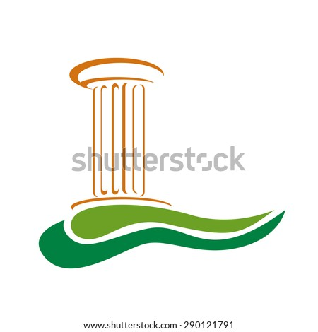 Vector sign archaeologist - stock vector