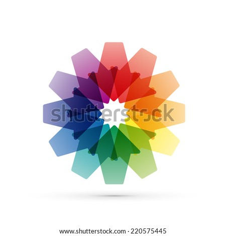 Vector sign arrows in convergence - stock vector