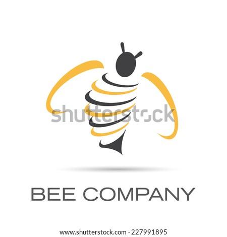 Vector sign Bee Company - stock vector