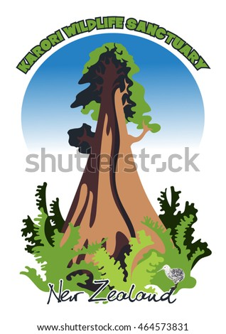 vector sign for the Karori Wildlife sanctuary. New Zealand